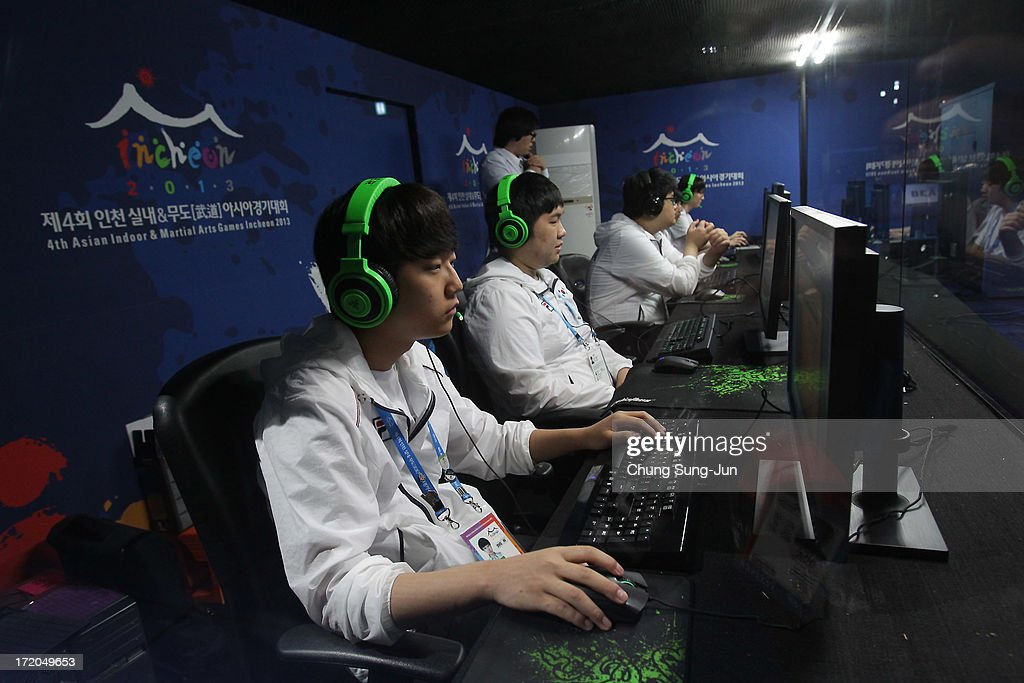 Team South Korea compete in the s-Sports, League of Legends Final against China at the Samsan World Gymnasium during day three of the 4th Asian Indoor & Martial Arts Games on July 1, 2013 in Incheon, South Korea.