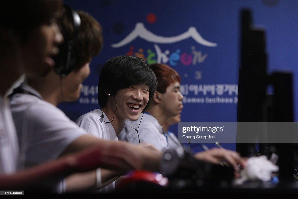 Team South Korea compete in the s-Sports, Specialforce final against Chinese Taipei at the Samsan World Gymnasium during day three of the 4th Asian Indoor & Martial Arts Games on July 1, 2013 in Incheon, South Korea.