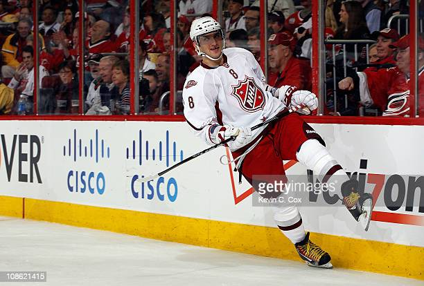 Team Staal player Alexander Ovechkin of the Washington Capitals reacts against Team Lidstrom in the 58th NHL AllStar Game at RBC Center on January 30...