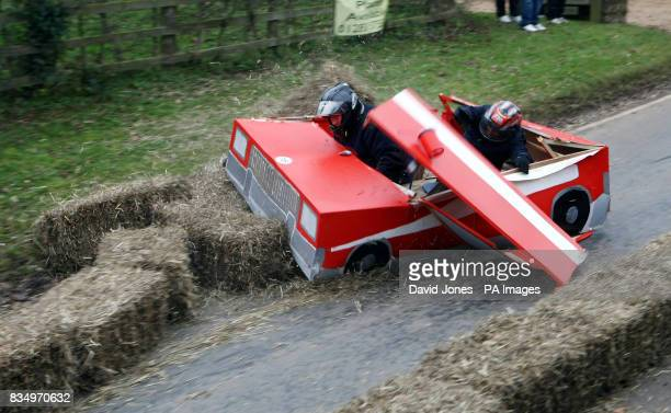 Team 'Starsky and Hutch' demolish the chicane at the Hoar Cross Downhill soapbox competition The competition organised by the 'Mad Club' in aid of...