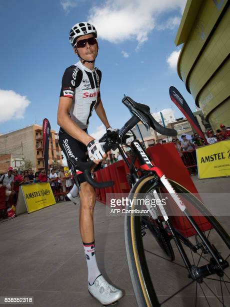 Team Sunweb's French cyclist Warren Barguil prepares for 6th stage of the 72nd edition of 'La Vuelta' Tour of Spain cycling race a 2044km route...