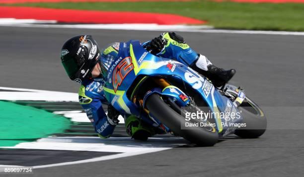Team Suzuki Ecstar Alex Rins during qualifying ahead of the British Moto Grand Prix at Silverstone Towcester