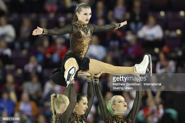 Team Sweden Team Surprise competes in the free skate during the ISU Wolrd Figure Skating Championships on April 8 2017 in Colorado Springs Colorado