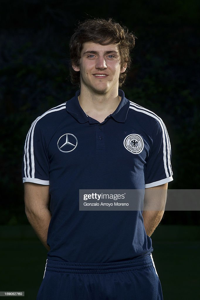 Team teacher Elja Spielvogel poses during the Germany U17 team presentation at La Manga Club training ground H on January 6, 2013 in La Manga, Spain.