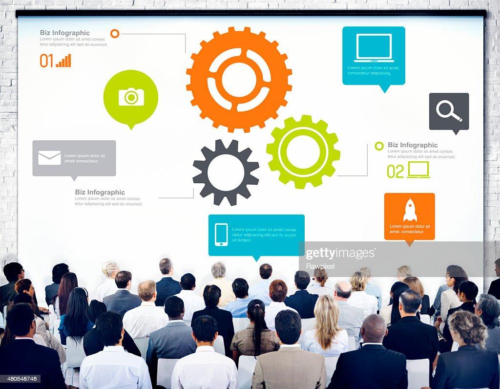 Team Teamarbeit Cog Funktionalität, Technologie-Business-Konzept : Stock-Foto