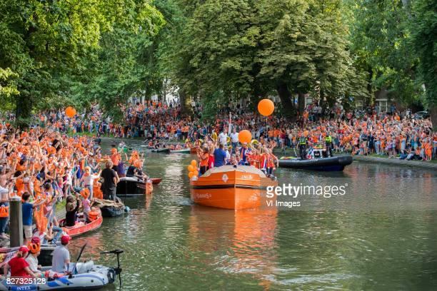 team The Netherlands during the honoring of the Netherlands women team at Park Lepelenburg on August 07 2017 in Utrecht the Netherlands