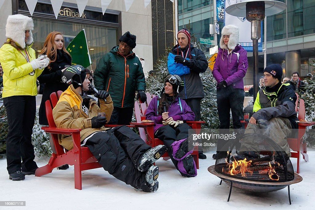Team USA 2014 Olympic hopefuls Tom Wallisch, Keri Herman and Bobby Brown answer questions during the Today Show One Year Out To Sochi 2014 Winter Olympics celebration at NBC's TODAY Show on February 6, 2013 in New York City.