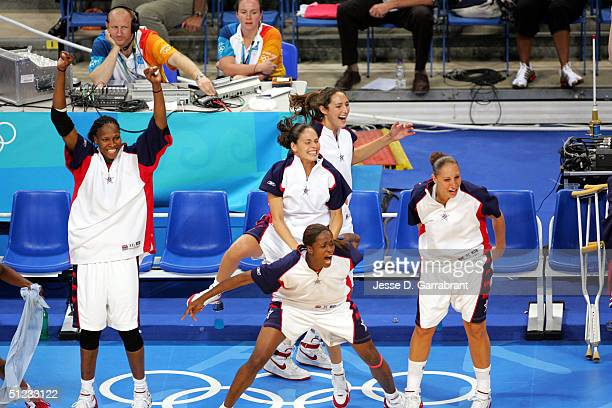 Team USA against team Australia during the women's basketball final game on August 28 2004 during the Athens 2004 Summer Olympic Games at the Indoor...