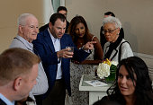Team USA fans enjoying the Toast to Team USA Send Off presented by Bridgestone event at The Paley Center for Media on July 22 2016 in Los Angeles...