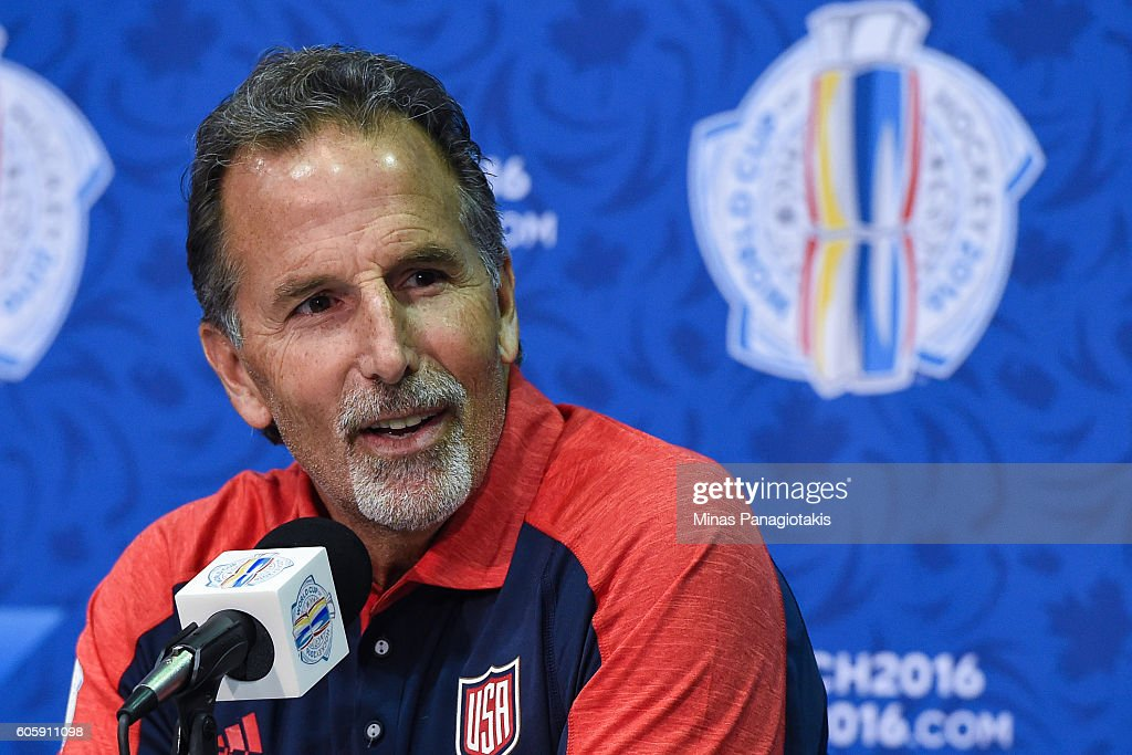 Team USA head coach John Tortorella answers questions during Media day at the World Cup of Hockey 2016 at Air Canada Centre on September 15, 2016 in Toronto, Ontario, Canada.