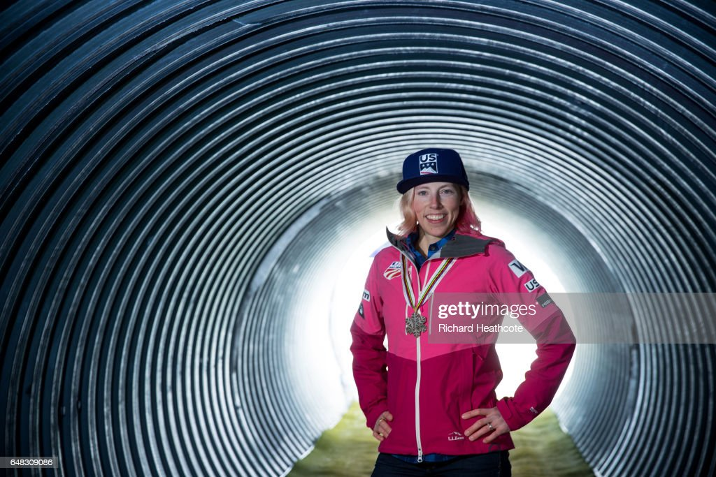 Team USA Medal winner Kikkan Randall poses for a portrait with her medal at the FIS Nordic World Ski Championships on March 5, 2017 in Lahti, Finland.