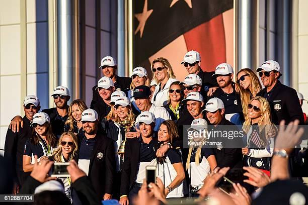 Team USA members Matt Kuchar Sybi Kuchar Dustin Johnson Paulina Gretzky Nichole Moore Ryan Moore Brandt Snedeker Mandy Snedeker Brooks Koepka Robin...