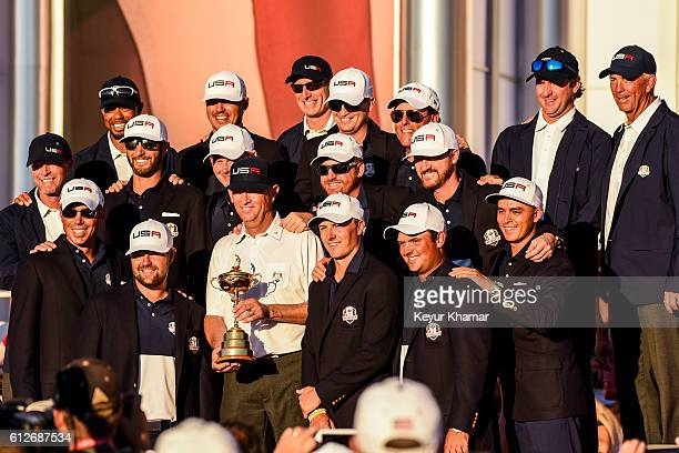 Team USA members Vice Captain Steve Stricker Matt Kuchar Vice Captain Tiger Woods Dustin Johnson Ryan Moore Brooks Koepka Brandt Snedeker Captain...