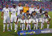 Team USA poses for a team photo before taking on Honduras during the 2015 CONCACAF Gold Cup Group A match between USA and Honduras at Toyota Stadium...