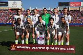 Team USA prepares to take on Mexico in the Group A 2016 CONCACAF Women's Olympic Qualifying at Toyota Stadium on February 13 2016 in Frisco Texas
