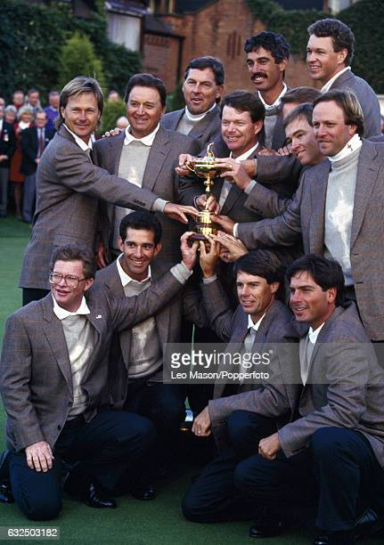 Team USA winners of the Ryder Cup at The Belfry in Wishaw near Birmingham on 26th September 1993 Back row left to right John Cook Ray Floyd Lenny...