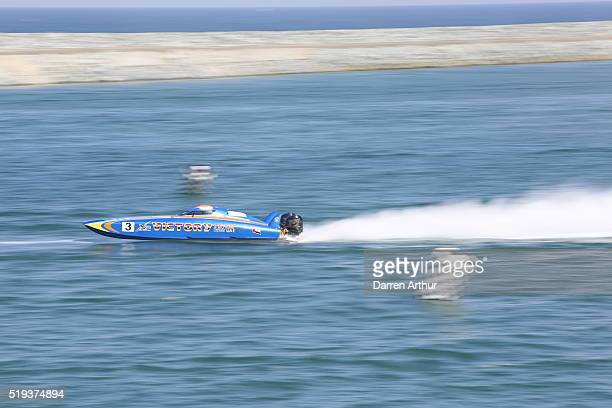 Team Victory on the first day of first round of the UIM XCAT World Series 2016 where 14 boats are competing XCAT short for extreme catamaran is one...