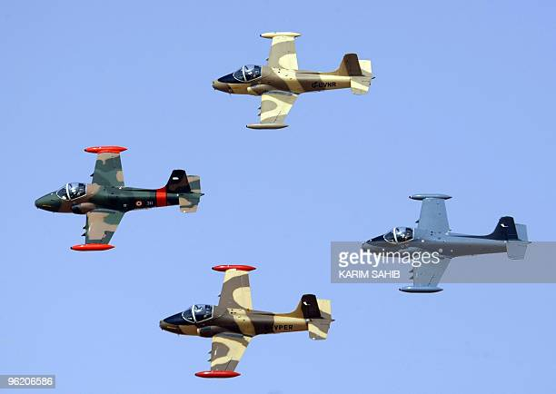 Team Viper performs during the AlAin International Aerobatics Show at the Gulf emirate's airport on January 27 2010 The world�s top aerobatic pilots...
