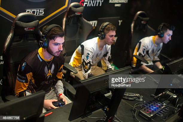 Team Vitality from France takes part in a qualifying match at the 2015 Call of Duty European Championships at The Royal Opera House on March 1 2015...