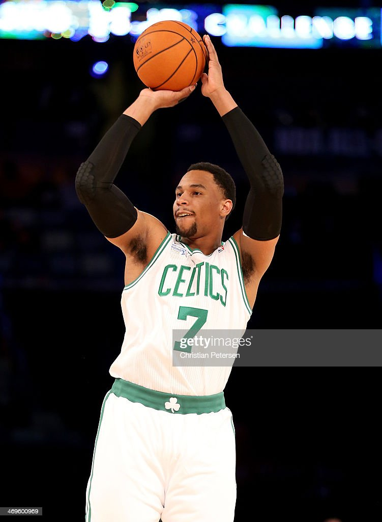 Team Webber's Jared Sullinger #7 of the Boston Celtics takes a shot against Team Hill during the BBVA Compass Rising Stars Challenge 2014 as part of the 2014 NBA Allstar Weekend at the Smoothie King Center on February 14, 2014 in New Orleans, Louisiana.