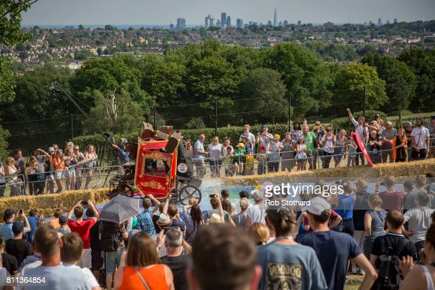 Team Why The Long Face take part in the The Red Bull Soapbox Race at Alexandra Palace on July 9 2017 in London England The event in which amateur...