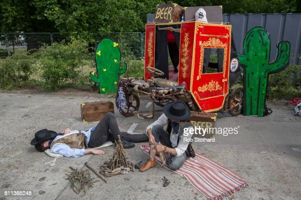 Team Why The Long Facewait in the pits ahead of The Red Bull Soapbox Race at Alexandra Palace on July 9 2017 in London England The event in which...