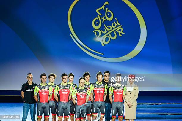 Team Wilier Triestina at the Official Opening Ceremony of the 2017 Dubai Tour at the outdoor amphitheatre in the Westin Dubai Mina Seyahi Beach...