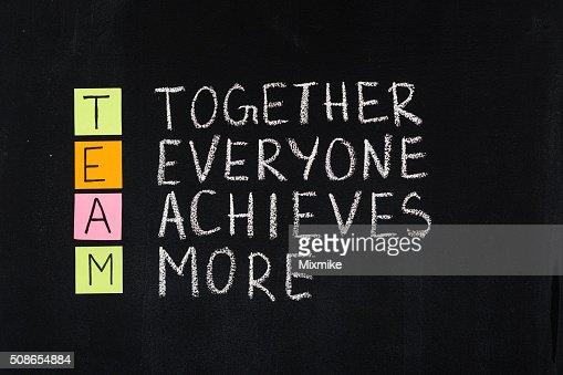 Team word acronym : Stock Photo