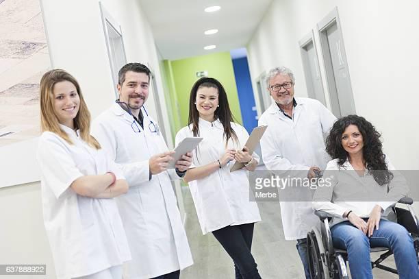Equipo de trabajo y el paciente