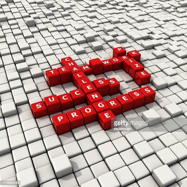 team work convex blocks crossword
