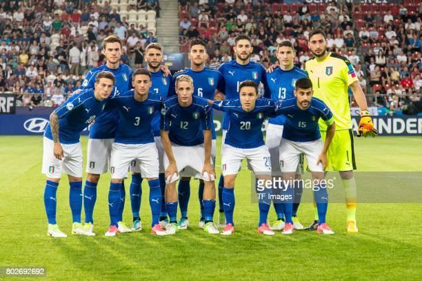 Teamfoto Italien hintere Reihel Daniele Rugani of Italy Lorenzo Pellegrini of Italy Roberto Gagliardini of Italy Mattia Caldara of Italy Goalkeeper...