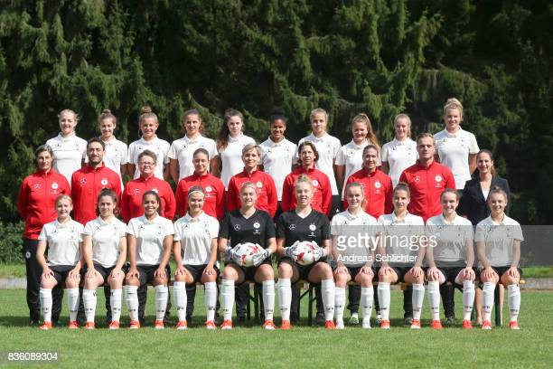 Gruenberg GERMANY AUGUST 20 teamphoto Back Line Pauline Wimmer Lina Jubel Leonie Koester Jasmin Jabbes Johanna Biermann Shekiera Martinez Karla...