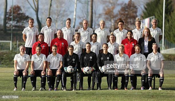 Teamphoto of Germany Women's Back row Anna Gasper Dszenifer Maroszan Jacqueline Klasen Mandy Islacker Isabel Kerschowski Lina Magull Svenja Huth Anna...