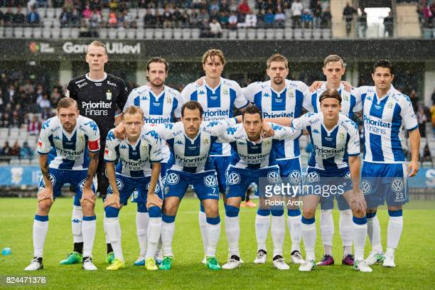 Teamphoto of IFK Goteborg before the Allsvenskan match between IFK Goteborg and IFK Norrkoping at Gamla Ullevi on July 30 2017 in Gothenburg Sweden