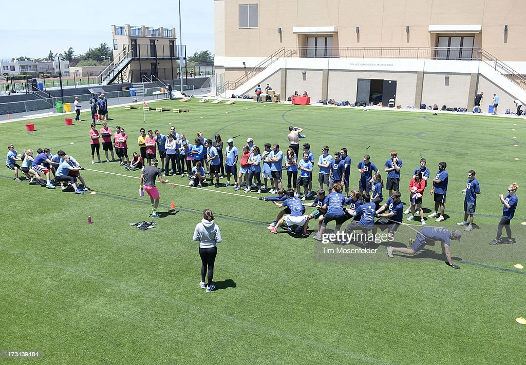 Teams compete at the Founder Institute's Silicon Valley Sports League on July 13, 2013 in San Francisco, California.