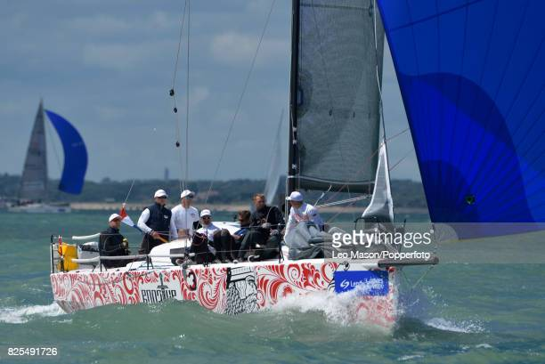 Teams compete in preliminary heats during Aberdeen Asset Management Cowes Week on August 1 2017 in Cowes England