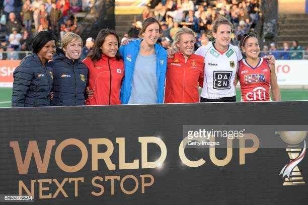 teams during day 9 of the FIH Hockey World League Women's Semi Finals at Wits University on July 23 2017 in Johannesburg South Africa