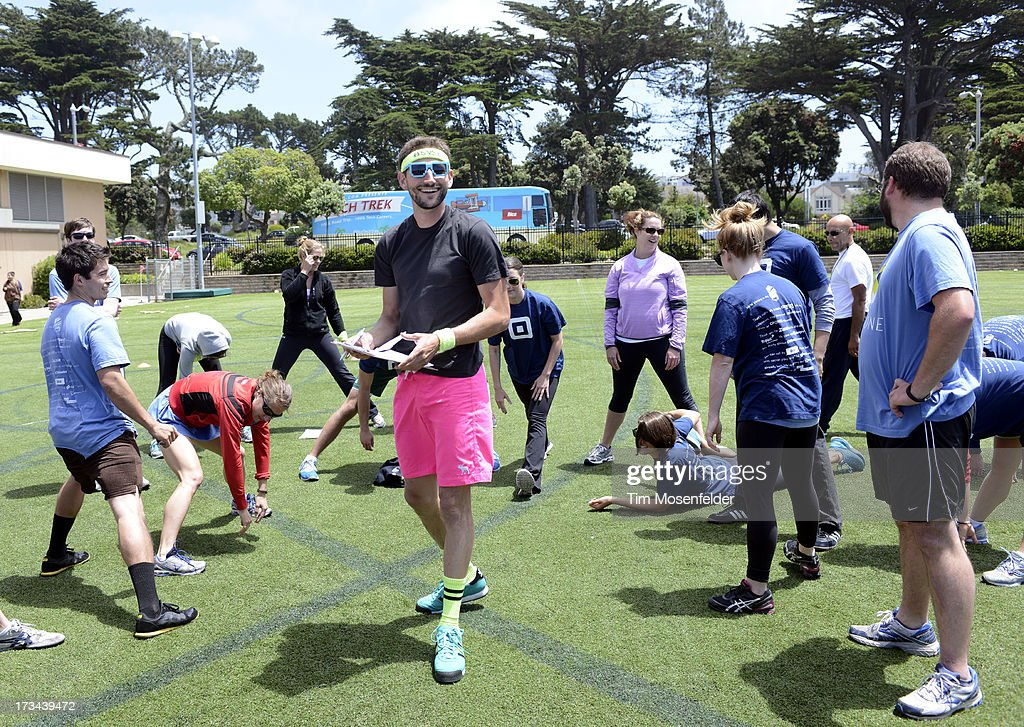 Teams gather for events at the Founder Institute's Silicon Valley Sports League on July 13, 2013 in San Francisco, California.