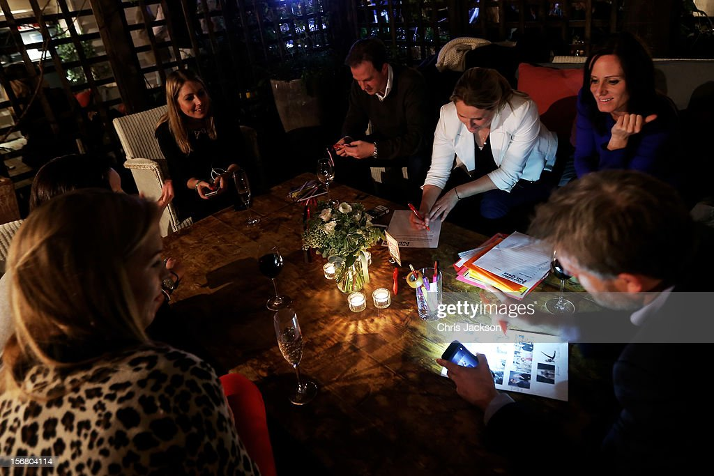 Teams take part in the the Vodafone Fashionable Pub Quiz at Shoreditch House on November 21, 2012 in London, United Kingdom. As Principal Sponsor of London Fashion Week, the quiz celebrated Vodafone's commitment to British Fashion.