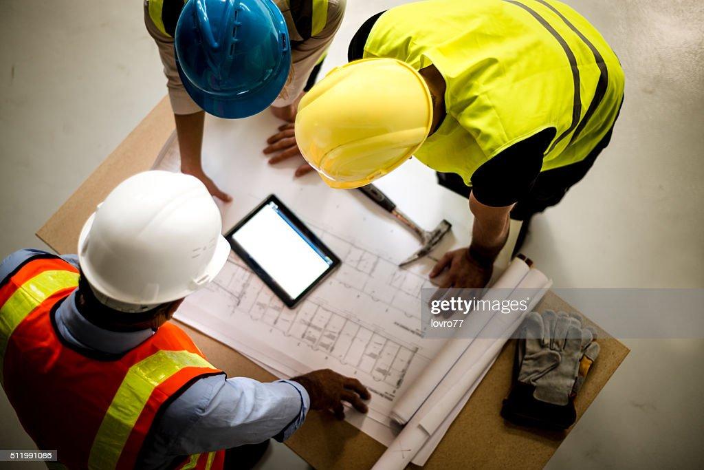 Teamwork building construction : Stock Photo