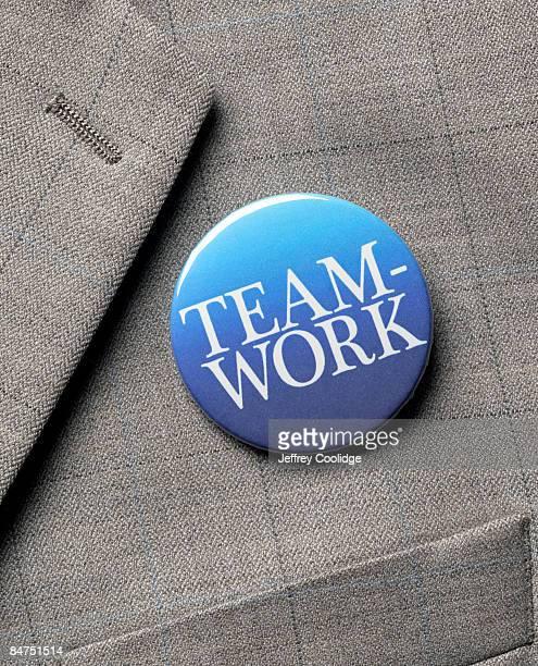 Teamwork Button on Jacket