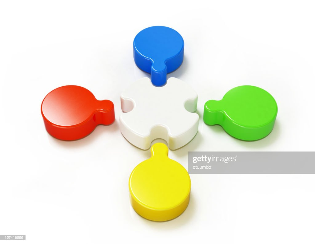Teamwork concept - coloured : Stock Photo