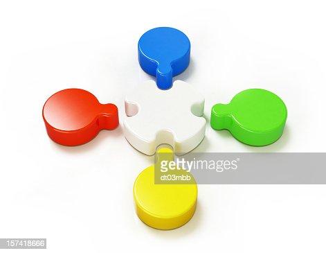 チームワークの概念-色 : ストックフォト