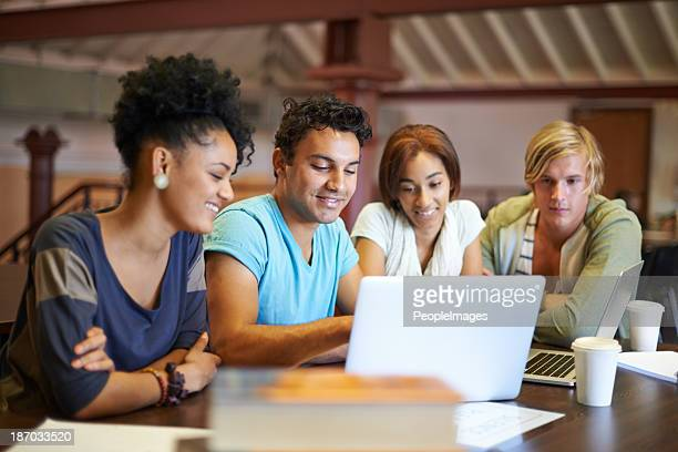 Teamwork ensures their assignment's a success