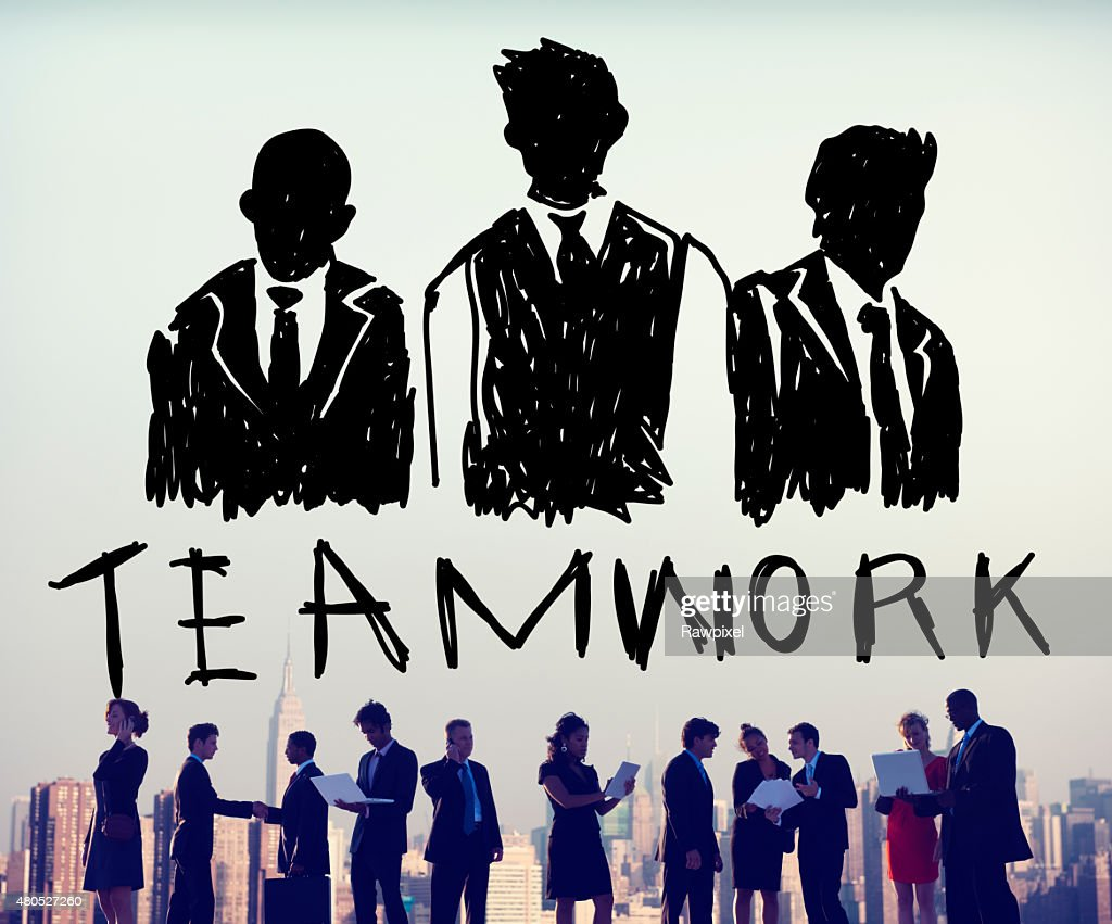Teamwork Group Collaboration Organization Concept : Stockfoto