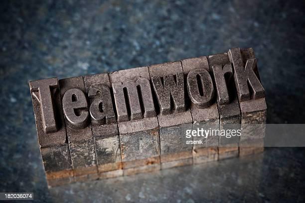Teamwork In Letterpress Type