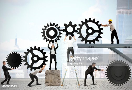 Teamwork of businesspeople : Stock Photo