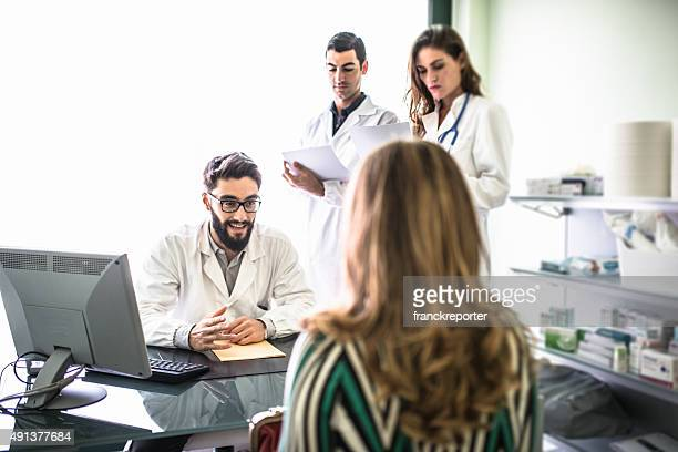 Teamwork of doctors in the office for a meeting