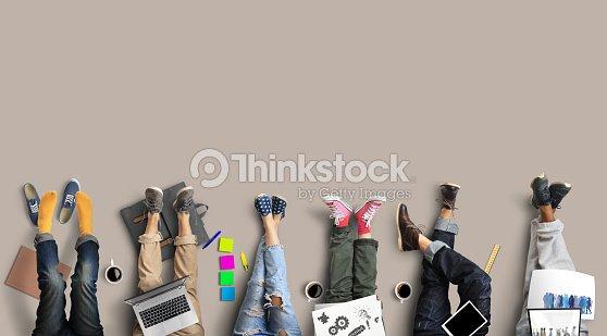 Teamarbeit der Mitarbeiter : Stock-Foto