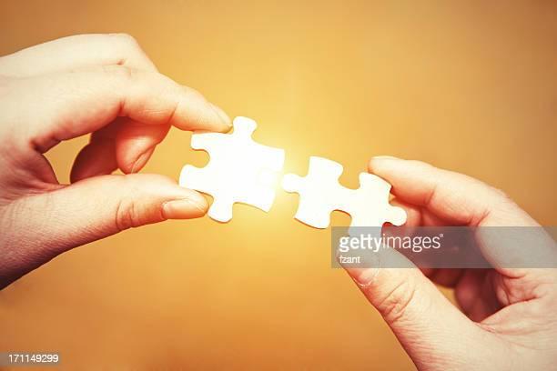 Teamwork - puzzle connection